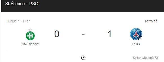 Encore une fois : le PSG l'emporte sur les verts !